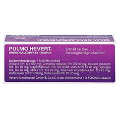 PULMO HEVERT Bronchialcomplex Tabletten 40 Stück N1 - Oberseite