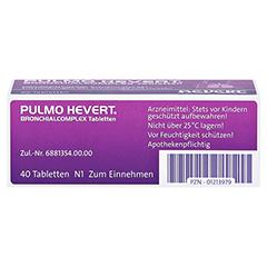 PULMO HEVERT Bronchialcomplex Tabletten 40 Stück N1 - Unterseite