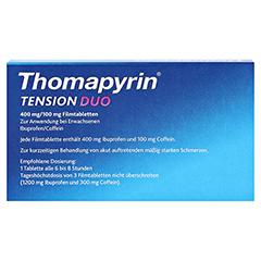 Thomapyrin TENSION DUO 400mg/100mg 6 Stück - Rückseite