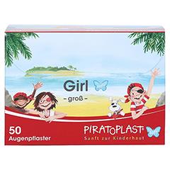 PIRATOPLAST Girl soft Augenpflaster groß 50 Stück - Vorderseite