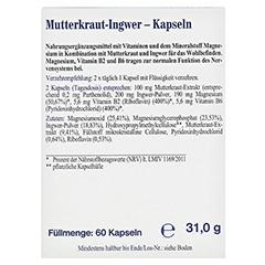 MUTTERKRAUT-INGWER Kapseln 60 Stück - Rückseite