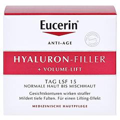 Eucerin Hyaluron-Filler + Volume-Lift Tagespflege Normale/Mischhaut + gratis Eucerin Hyaluron Filler Serum 5 ml 50 Milliliter - Vorderseite