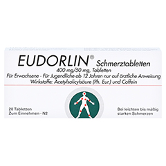 EUDORLIN Schmerztabletten 20 Stück - Vorderseite