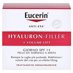 Eucerin Hyaluron-Filler + Volume-Lift Tagespflege Normale/Mischhaut + gratis EUCERIN Anti-Age Elasticity+Filler Gesichts-Öl 5 ml 50 Milliliter - Rückseite