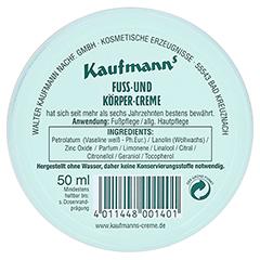 Kaufmanns Fuss- und Körpercreme 50 Milliliter - Rückseite