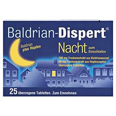Baldrian-Dispert Nacht zum Einschlafen 25 Stück - Vorderseite