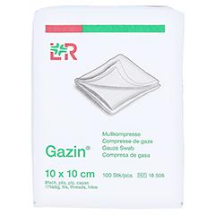 GAZIN Mullkomp.10x10 cm unsteril 8fach Op 100 Stück - Vorderseite