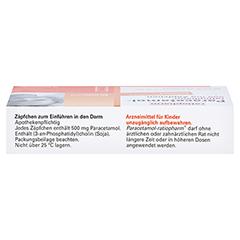 Paracetamol-ratiopharm 500mg 10 Stück N1 - Oberseite