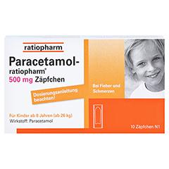 Paracetamol-ratiopharm 500mg 10 Stück N1 - Vorderseite