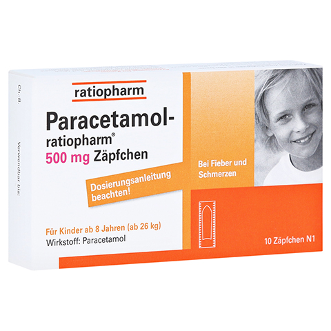 Paracetamol-ratiopharm 500mg 10 Stück N1