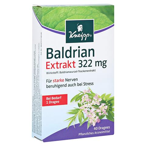 Kneipp Baldrian Extrakt 322mg 40 Stück