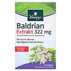Kneipp Baldrian Extrakt 322mg 40 Stück - Vorderseite
