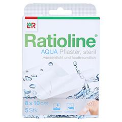 RATIOLINE aqua Duschpflaster Plus 8x10 cm steril 5 Stück - Vorderseite