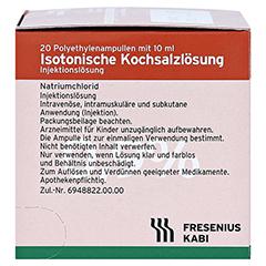KOCHSALZLÖSUNG 0,9% Pl.Fresenius Injektionslsg. 20x10 Milliliter N3 - Rechte Seite