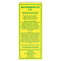 SOLI-CHLOROPHYLL-ÖL S 21 50 Milliliter - Rückseite