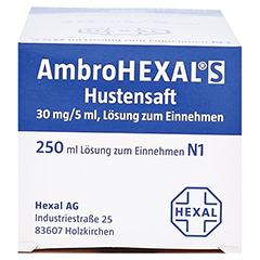 AmbroHEXAL S Hustensaft 30mg/5ml 250 Milliliter N3 - Unterseite