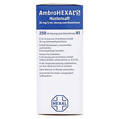 AmbroHEXAL S Hustensaft 30mg/5ml 250 Milliliter N3 - Linke Seite