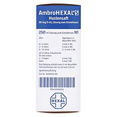 AmbroHEXAL S Hustensaft 30mg/5ml 250 Milliliter N3 - Rechte Seite