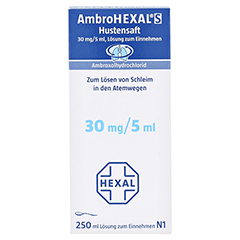 AmbroHEXAL S Hustensaft 30mg/5ml 250 Milliliter N3 - Rückseite