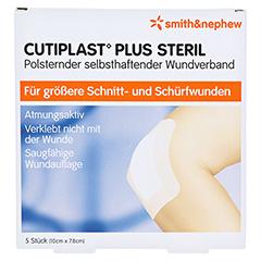 CUTIPLAST Plus steril 7,8x10 cm Verband 5 Stück - Vorderseite