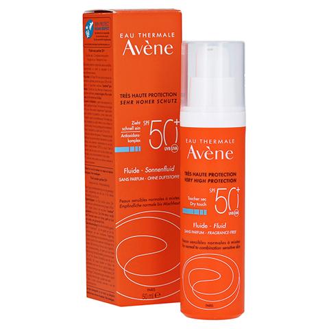 Avène Sunsitive Sonnenfluid SPF 50+ ohne Duftstoffe 50 Milliliter