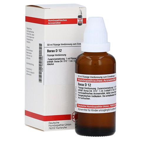 BORAX D 12 Dilution 50 Milliliter N1