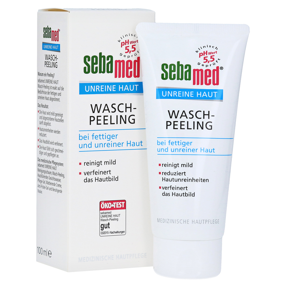 die beste peeling creme f r s gesicht sebamed unreine haut wasch peeling 100 milliliter. Black Bedroom Furniture Sets. Home Design Ideas
