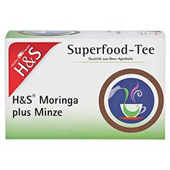 H&S Moringa plus Minze Filterbeutel 20x2.3 Gramm - Vorderseite