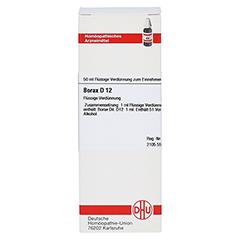 BORAX D 12 Dilution 50 Milliliter N1 - Vorderseite
