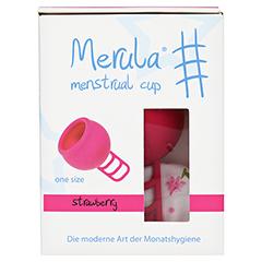 MERULA Menstrual Cup strawberry pink 1 Stück - Vorderseite