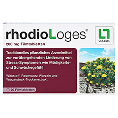 RHODIOLOGES 200 mg Filmtabletten 20 Stück N1 - Vorderseite