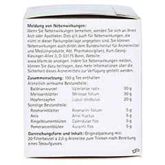 H&S Schlaf-und Nerventee 20x2.0 Gramm - Linke Seite