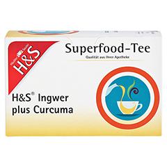 H&S Ingwer plus Curcuma Filterbeutel 20x1.25 Gramm - Vorderseite