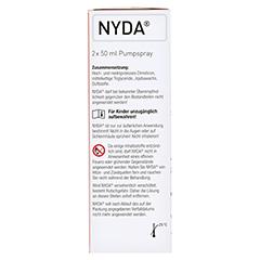NYDA Pumplösung 2x50 Milliliter - Linke Seite