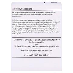MULTI-GYN Kompressen f.Wohlbefinden im Analbereich 12 Stück - Rückseite