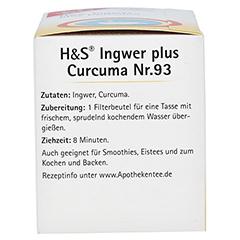 H&S Ingwer plus Curcuma Filterbeutel 20x1.25 Gramm - Linke Seite