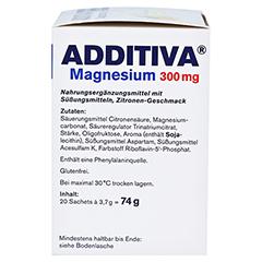 ADDITIVA Magnesium 300 mg N Pulver 20 Stück - Linke Seite