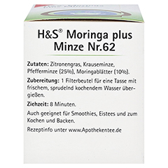 H&S Moringa plus Minze Filterbeutel 20x2.3 Gramm - Linke Seite