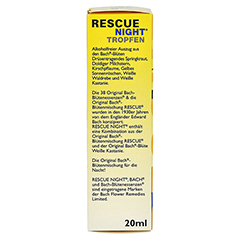 Bach Original Rescue Night Tropfen 20 Milliliter - Linke Seite