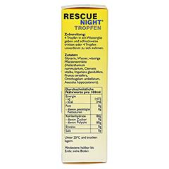 BACH ORIGINAL Rescue night Tropfen alkoholfrei 20 Milliliter - Rechte Seite