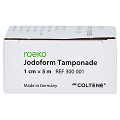 JODOFORM Tamponade 1 cmx5 m 1 Stück - Rechte Seite