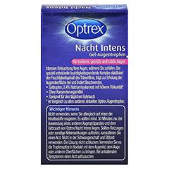 Optrex Nacht Intens Gel-Augentropen 0,4% Hyaluron 10 Milliliter - Rückseite