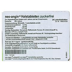 Neo-Angin Halstabletten zuckerfrei 48 Stück N3 - Rückseite