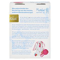 MERULA Menstrual Cup strawberry pink 1 Stück - Rückseite