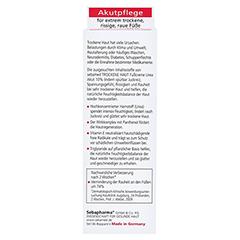SEBAMED Trockene Haut 10% Urea akut Fußcreme 100 Milliliter - Rückseite