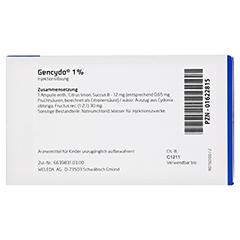 GENCYDO 1% Injektionslösung 8 Stück N1 - Rückseite