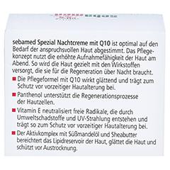 SEBAMED Spezial Nachtcreme Q10 75 Milliliter - Rückseite
