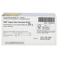 H&S Ingwer plus Curcuma Filterbeutel 20x1.25 Gramm - Unterseite