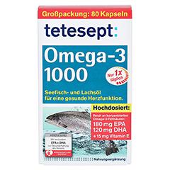 TETESEPT Omega-3 1000 Kapseln 80 Stück - Vorderseite
