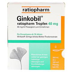 GINKOBIL ratiopharm 40mg 300 Milliliter N3 - Vorderseite